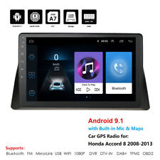 10.1''For 08-12 Honda Accord Quad Core Android 9.1 Radio Stereo BT FM GPS Player