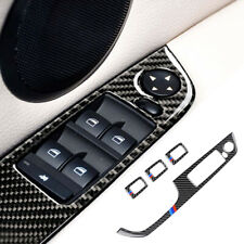 Carbon Fiber Power Window Switch Cover Trim Accessories For BMW 3 E90 E92 E93
