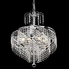 World Crystal Swirl 6 Light Dining Crystal Chandeliers Ceiling Light Chrome