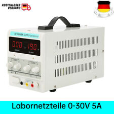 Labornetzgerät Labornetzteil DC Trafo Regelbar 0-30V 0-5A Power Supply