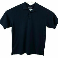 5.11 Tactical Series Mens Large Navy Blue Short Sleeve Polo Shirt Cotton