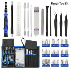 Cell Phone Repair Kit 80 Pc Magnetic Screwdriver Tool Bag Holder Computer Laptop