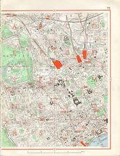 1964  VINTAGE STREET MAP - CAMDEN TOWN, BLOOMSBURY, SOHO, REGENT'S PARK