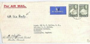 BERMUDA Cover Air Mail *ALL AIR ROUTE* 2s Rate BANKING Southampton 1941 MS2535