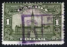 Canada Sc 159 Parliament $1 Issue of 1929 Violet Boxed Cancel