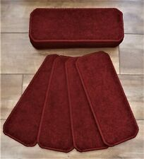 14 Stair Carpet Pads Treads  # Red Twist # 20cm x 50cm #