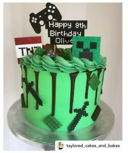 Minecraft Cake Topper Bundle - Personalise Name