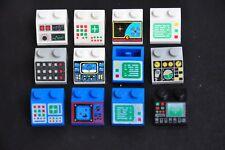 1x Lego Computer Screen Space Radar Panel Flight control Classic Blue Vintage