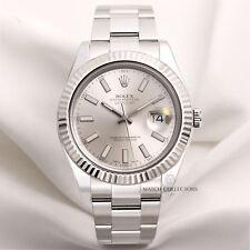 Full Set Rolex DateJust II 116334 Stainless Steel & 18K White Gold bezel