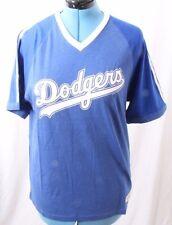 Mitchell & Ness Nostalgia Los Angeles LA Dodgers Striped V Neck T Shirt Womens L