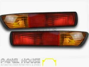 Mitsubishi Pajero NM Wagon '00-'02 Rear Pair of Tail Lights In Bumper Bar RH & L