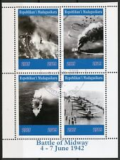 Madagascar 2019 CTO WWII WW2 Battle of Midway 4v M/S Aviation Military Stamps