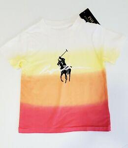 Polo Ralph Lauren Little Boys Dip Dyed Jersey Graphic T Shirt Peach Dip Dye 5