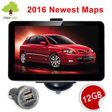 """12GB 5"""" Car GPS SAT NAV Navigation System FM Speedcam POI UK EU Map Travel"""