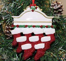 ALBERO di Natale personalizzata Decorazione Ornamento Bianco Mantello famiglia di 9