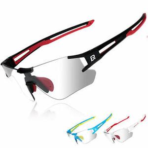 ROCKBROS Bike Photochromatic Glasses Outdoor Cycling Rimless Sports Sunglasses