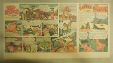 Red Ryder Sunday Page by Fred Harman from 12/12/1943 Third Page Size!