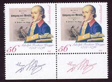 BRD 2002 250. Geburtstag von Adolph Freiherr von Knigge, Schriftsteller postfr.