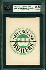 1972 73 OPC NNO NEW ENGLAND WHALERS KSA 8.5 NMM+ TEAM LOGO PUSHOUT