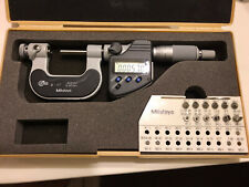 0 1 Mitutoyo 326 351 Digital Thread Micrometer With Anvil Sets 00005 Reading