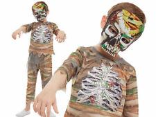 Zombie Mummy Costume Kids Halloween Mummy Fancy Dress Outfit + Mask