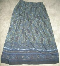 VINTAGE ORVIS LONG PAISLEY SKIRT SIZE12 POCKETS