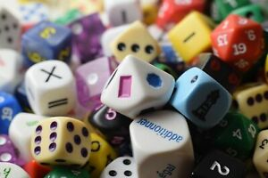 Quarter (1/4) Pound of Dice RPG Koplow Game Dice Shapes 16mm Double d6 Large