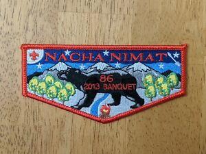 Nacha Nimat Lodge 86 2013 Banquet Flap, Red Border