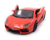 Lamborghini Model Car with Desired License Plate Aventador Sports Car Red 1:3 4