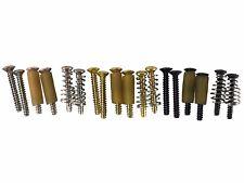 Stratocaster/Strat single coil pickup screws screws, tubing, chrome, black, gold