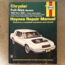 CHRYSLER HAYNES REPAIR MANUAL 1988-1993 FULL SIZE MODELS