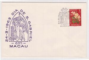(K159-37) 1963 Macau 1A flowers DIA DE S. Gabriel (AJ)