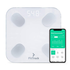 FitTrack Dara Smart BMI Digital Scale - Measure Weight And Body Fat - Most Glass