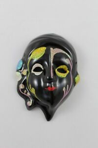 Venetian Mask Ceramic Miniature Vintage Measures 12cm x 9cm