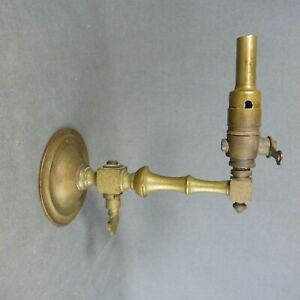 Antique French Copper Gas Burner Wall Light Sconce - ca.1900s