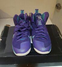 Nike lebron 9 summit lake hornets size 8