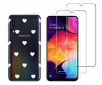 Samsung Galaxy A50 - Pack 2 films en verre trempé protection écran + coque
