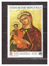 s31395) SMOM 1989 MNH**  Christmas Madonna Painting 1v