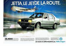 Publicité Advertising 037  1985  la Jetta Volkswagen  (2p) le Jet de la route