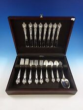 Delacourt by Lunt Sterling Silver Flatware Service For 8 Set 33 Pieces