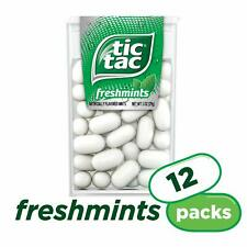 Tic Tac Fresh Breath Mints Freshmint 1 oz Singles 12 Count