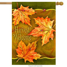 "Harvest Welcome Autumn House Flag Decorative Banner 29"" x 43"""