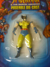 Spiderman/The Marvel Universe Wolverine Poseable Diecast 2003 Action Figure Moc