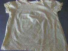 Shirt T-Shirt Gr. 86/92, Gelb, Kurzarm mit Volant, impidimpi, süss