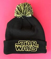 NEW DISNEY PARKS STAR WARS POM CUFFER Mens Beanie Pom Cap Black Starwars Cuffed