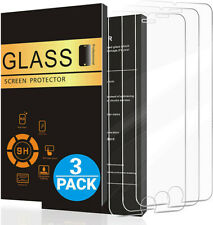 3 Pack For iPhone 11 Pro 8 7 6s Plus X Xs Max XR Tempered GLASS Screen Protector