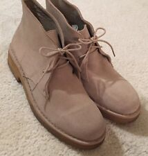 Women's Clarks Desert Boots Series Leather Beeswax  10 M   $130