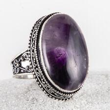 Wunderschöner, großer Silber Ring, 925, Amethyst Stein, Cabochon, Größe: 61