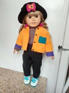 Pleasant company American girl Doll Blonde Hair Brown Eyes In Meet Outfit