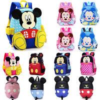 Kids Girls Boy 3D Cartoon Mickey Mouse Backpack Anti-Lost Rucksack Children Bags